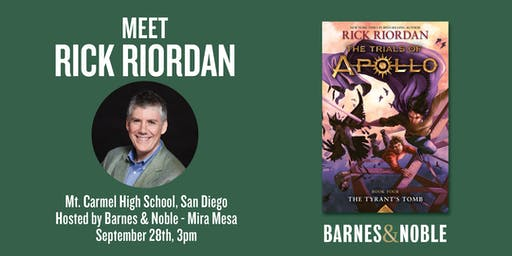 Meet Rick Riordan to celebrate THE TRIALS OF APOLLO in San Diego!