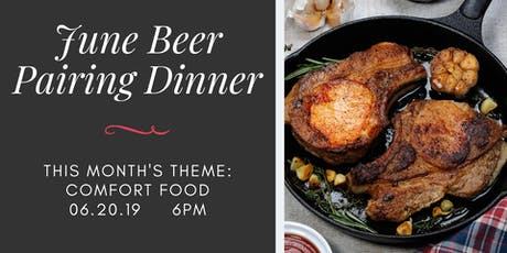 June Beer Pairing Dinner - Comfort Food at Legacy Ale Works tickets