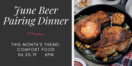 June Beer Pairing Dinner - Comfort Food at Legacy Ale Works