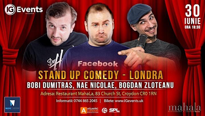Stand Up Comedy Londra - Bobi Dumitras, Nae Nicolae si Bogdan Zloteanu image