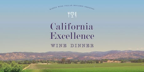 California Excellence Wine Dinner tickets