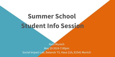 ReDI Munich: Summer School Student Info Session