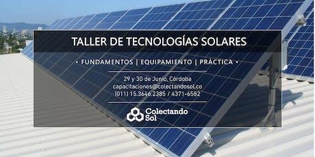 Taller de Tecnologías Solares Cordoba / Junio 2019 entradas