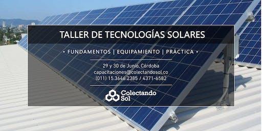 Taller de Tecnologías Solares Cordoba / Junio 2019