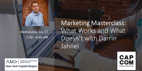 Marketing Masterclass: What Works and What Doesn't with Darrin Jahnel tickets