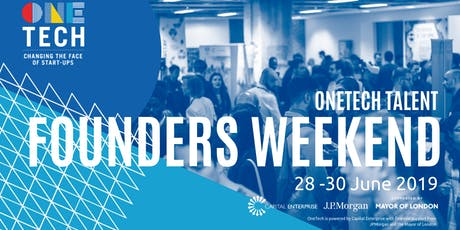 OneTech Talent Founders Weekend - 28-30 June (18-24 year olds) tickets