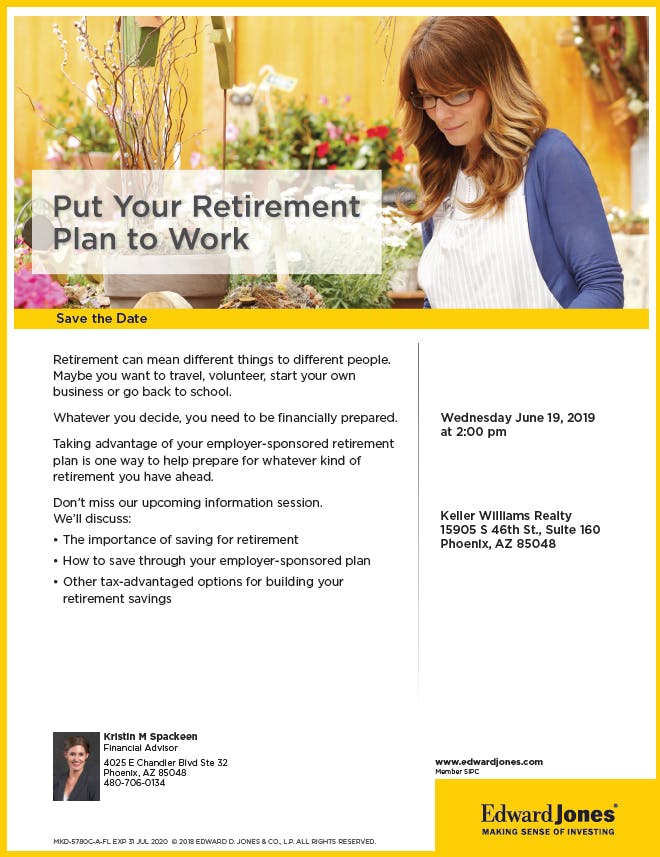Put Your Retirement Plan to Work