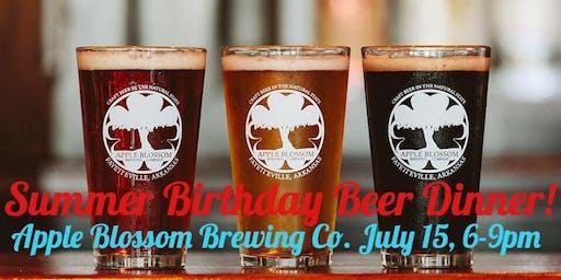 Summer Birthday Beer Dinner!