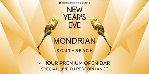 Joonbug.com Presents Mondrian South Beach Hotel New Years Eve Party 2020