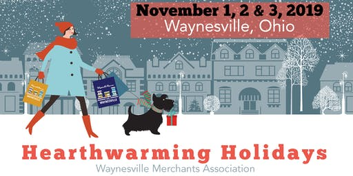 Hearth Warming Holiday Shopping Weekend 2019 on Old Main Street Waynesville Ohio