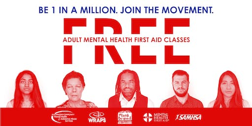 Adult Mental Health First Aid: October 22 at ISK