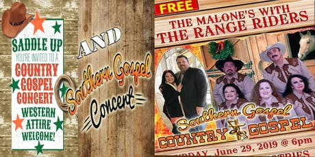 Free Southern Gospel and Western Gospel Concert ~ ALL ARE WELCOME tickets