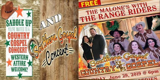 Free Southern Gospel and Western Gospel Concert ~ ALL ARE WELCOME
