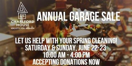 Annual Garage Sale tickets