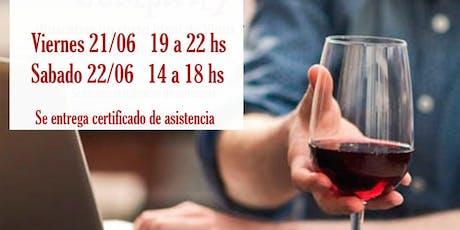 Curso intensivo de vinos  entradas