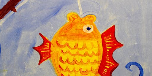 Creative Canvas for Kids - Goldfish
