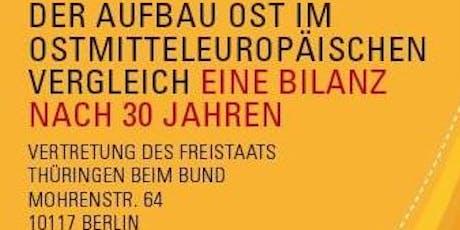 """Konferenz """"Der Aufbau Ost im ostmitteleuropäischen Vergleich. Eine Bilanz nach 30 Jahren""""  Tickets"""