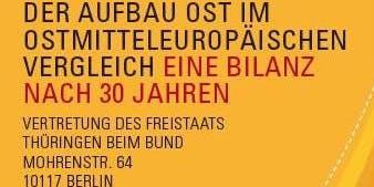 """Konferenz """"Der Aufbau Ost im ostmitteleuropäischen Vergleich. Eine Bilanz nach 30 Jahren"""""""