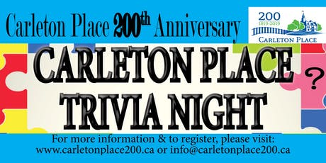 Carleton Place Trivia Night billets