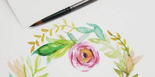 Intro to Watercolors creating greeting Cards