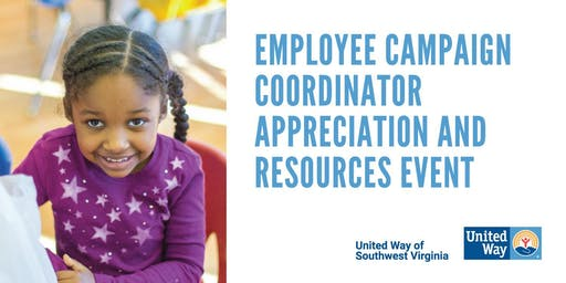 2019 Employee Campaign Coordinator Appreciation & Resources Event