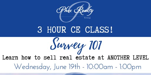 Survey 101 - 3 Hour CE Class