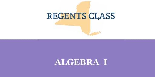 Algebra I Regents Class