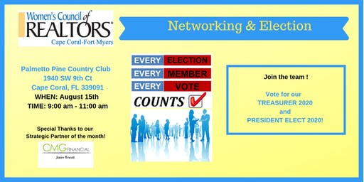Breakfast, General Meeting & Election with Women's Council of REALTORS Cape Coral-Fort Myers