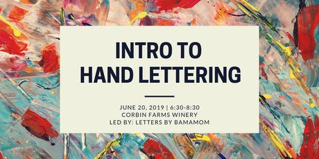 Intro to Hand Lettering tickets
