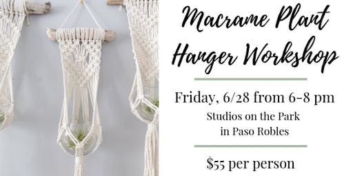 Macrame Driftwood Plant Hanger Workshop @ Studios on the Park