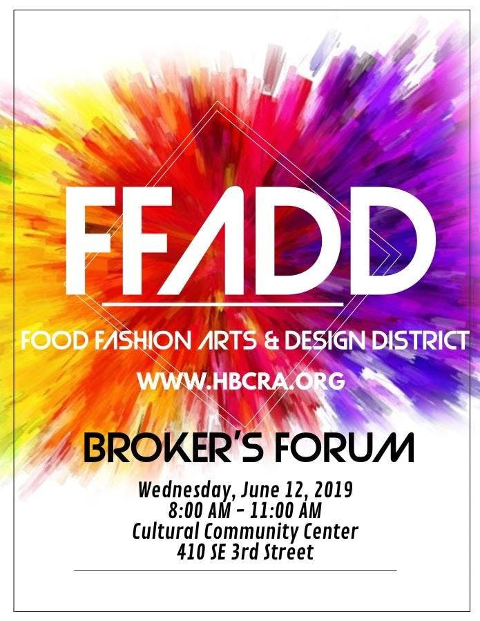 Food Fashion Arts Design District Brokers Forum Breakfast 12 Jun 2019