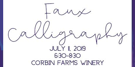 Faux Calligraphy Class tickets
