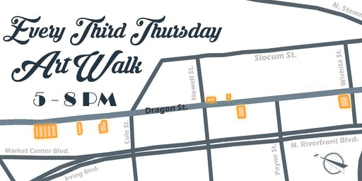 Third Thursday's Art Walk with the Dragon Street Galleries