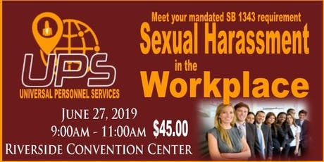 SB 1340  Sexual Harassment In The Workplace tickets