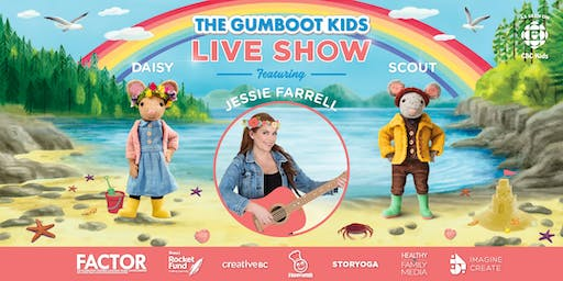 1:30pm Abbotsford - Gumboot Kids' Live Show with Jessie Farrell