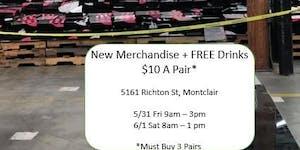 $10 A PAIR* + FREE DRINKS: Women's Happy Hour Shoe Sale