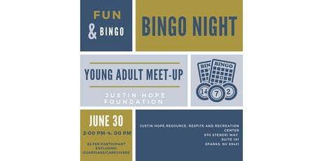 Young Adult Game Night at JUSTin Hope  tickets