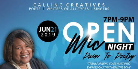 Open Mic Night - Pain to Poetry  tickets