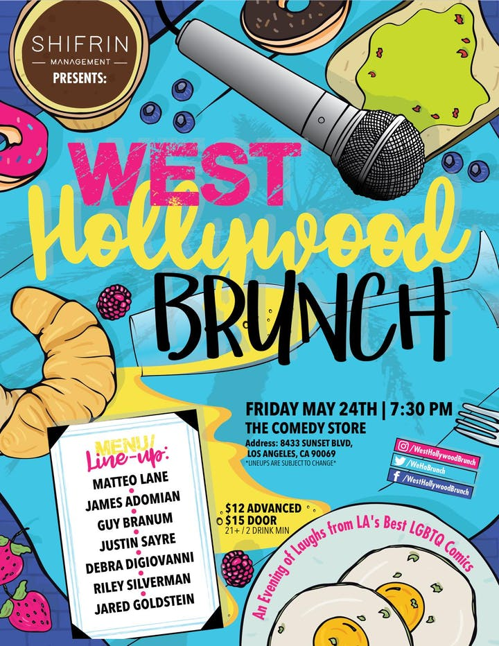 West Hollywood Brunch - Friday, May 24th 2019 at The Comedy