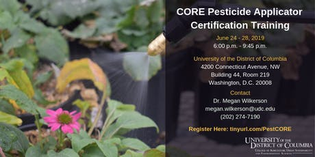 CORE Pesticide Applicator Certificate Training tickets