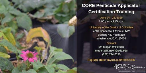CORE Pesticide Applicator Certificate Training