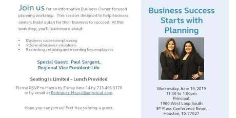Business Success Starts with Planning - Luncheon tickets