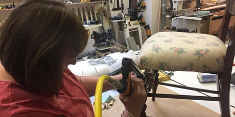 Full day course - Beginner's upholstery - strip, pad and cover a dining chair tickets