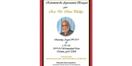 Retirement Banquet & Celebratory Service  - Dr. Oliver Phillips - Lead Connector tickets