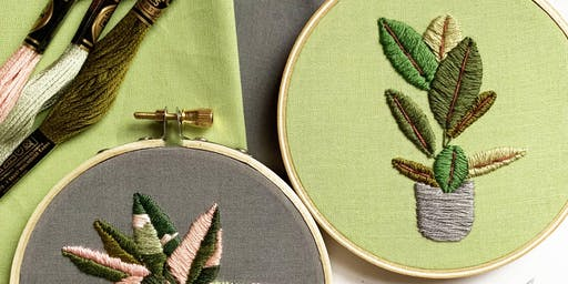 Evening Cocktail & Craft: House Plant Embroidery