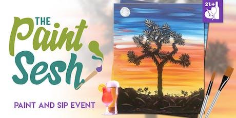 "Paint night in Riverside, CA - ""Joshua Tree Sunset"" tickets"