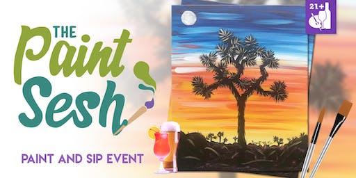 "Paint night in Riverside, CA - ""Joshua Tree Sunset"""