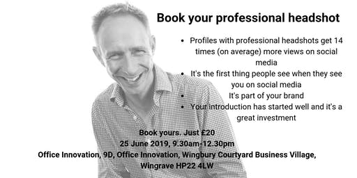 Book your professional headshot - just £20