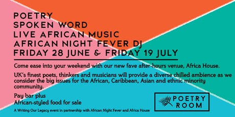 Poetry Room @ Africa House, 19 July tickets