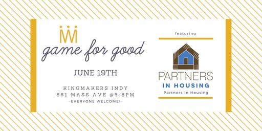 Game for Good: Partners in Housing